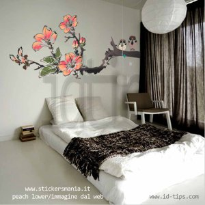 peach flower-stickersmania