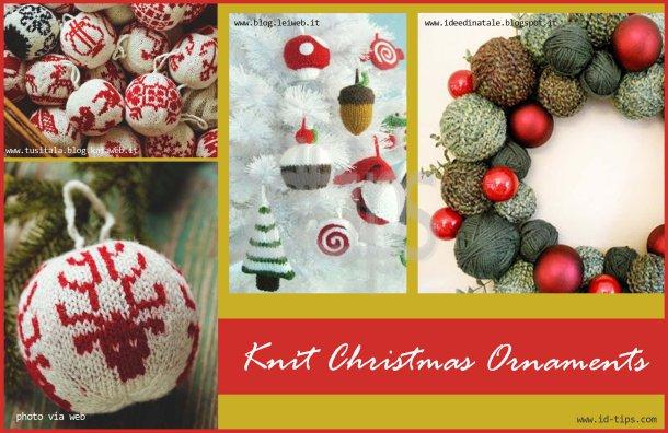 knit christmas ornamentst