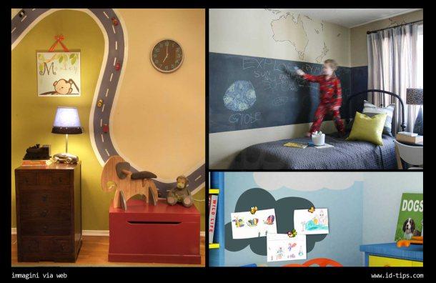 pareti lavagna bambini