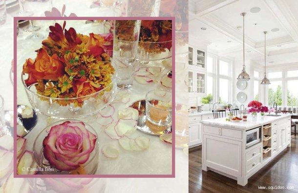 fucsia arancio-dining room