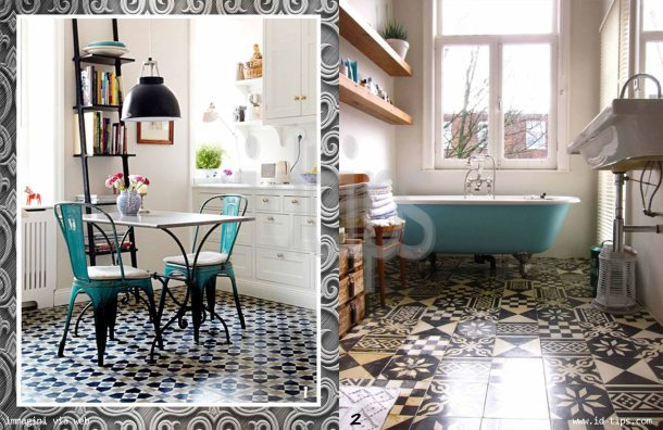 azulejos in cucina e bagno