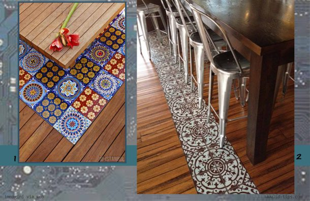 bindello parquet con azulejos