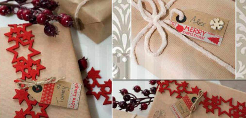 Pacchetti regalo handmade fai da te