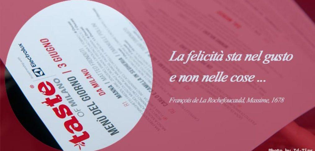 Menu ristoranti stellati dell'evento Electrolux Taste of Milano