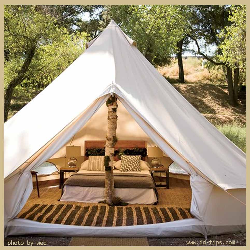 Glamping in tenda