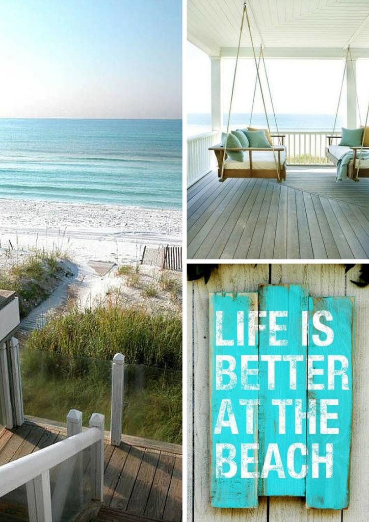 casa al mare con accesso diretto in spiaggia, portico con altalena in legno
