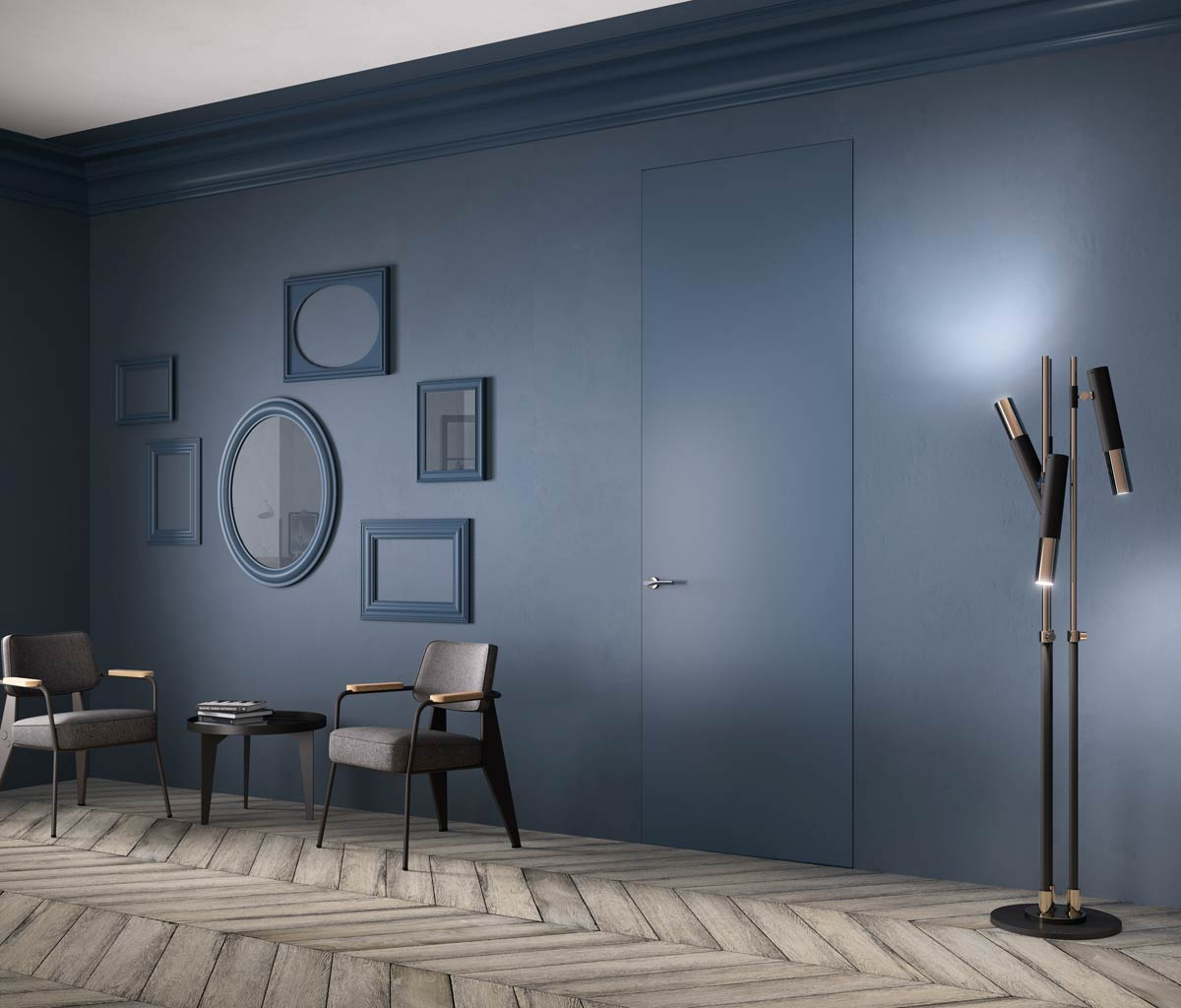 La porta filo muro minimale ed elegante for Porte a battente