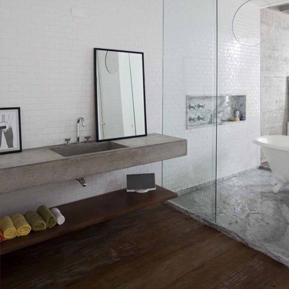 Bagno naturale benessere - Bagno pavimento legno ...