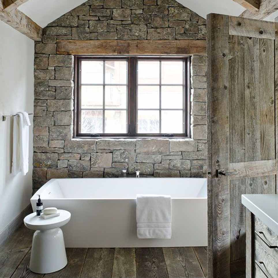 Stile naturale in bagno - Pietre per bagno ...