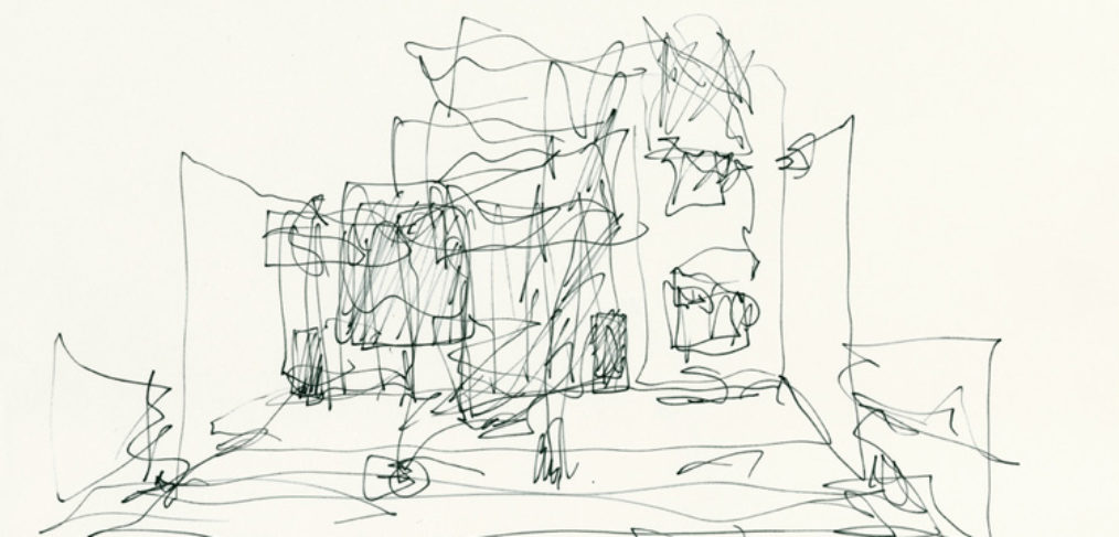 Frank Gehry's sketch of Gehry Residence
