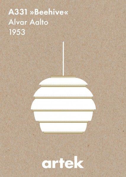 Lampadario Beehive Alvar Aalto