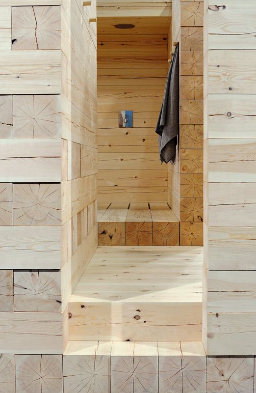 Sauna moderna in legno