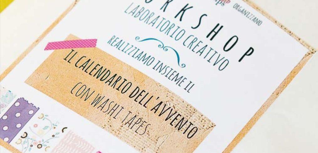 washi tape calendario dell'avvento