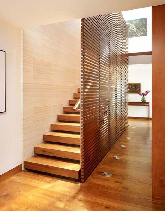 Ad ogni scala il suo parapetto di design - Parete interna in legno ...