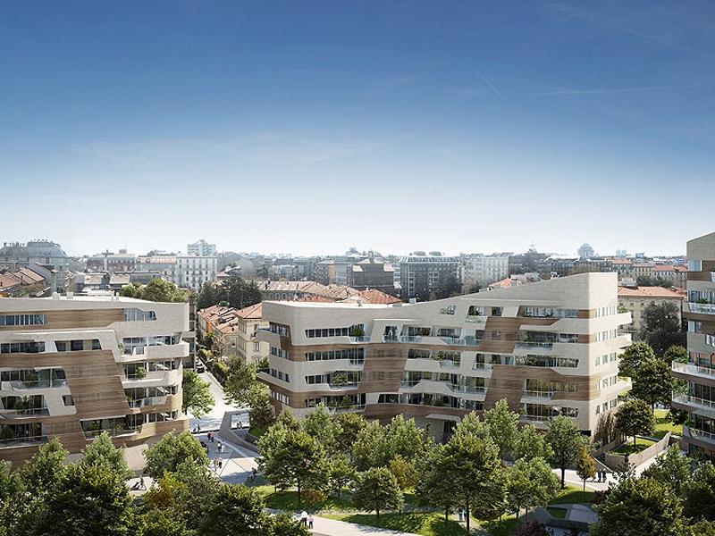 vista residenze a city life - architetto zaha hadid