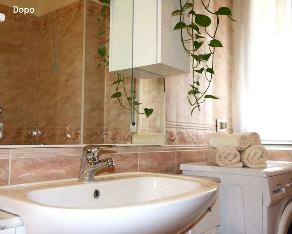 relooking piccolo bilocale affitto - bagno dopo