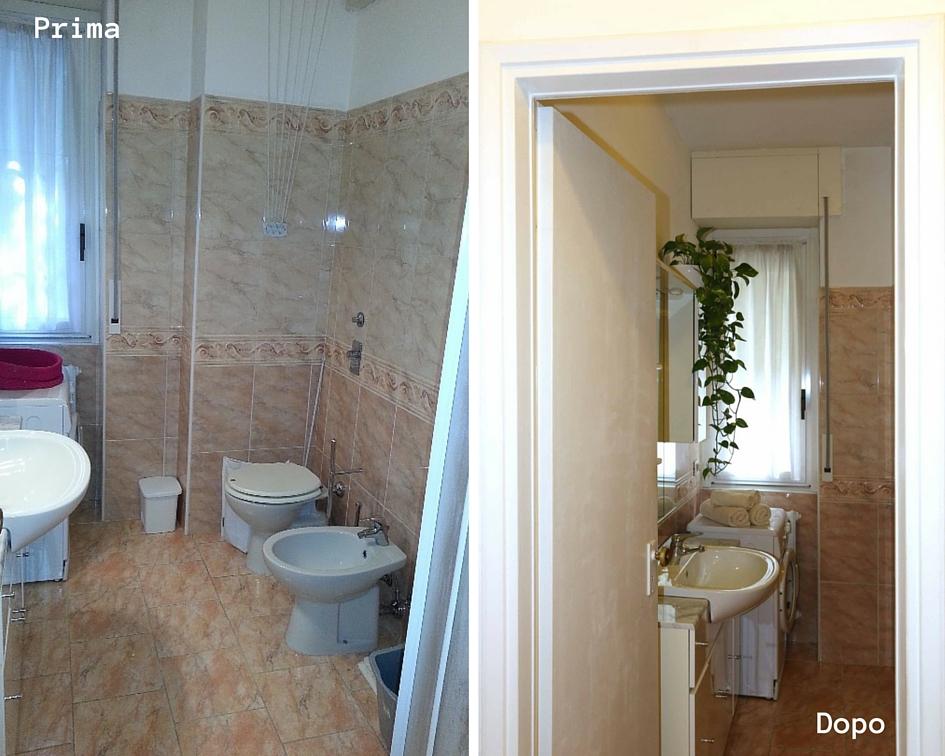 relooking piccolo bilocale affitto - bagno