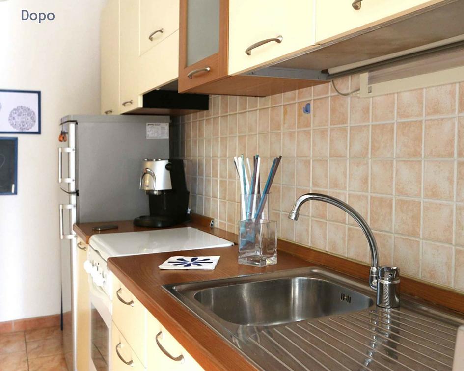 relooking piccolo bilocale affitto - cucina dopo