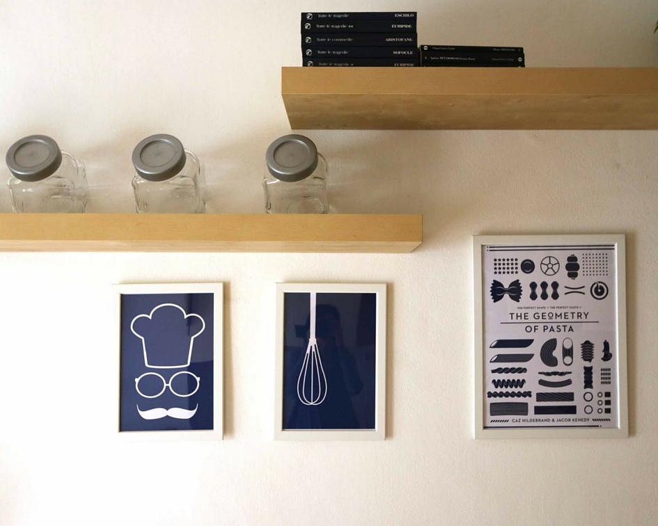 relooking piccolo bilocale affitto - quadri cucina