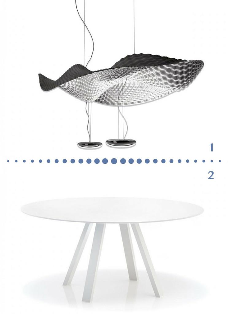 valencia arredo forme organiche sospensione tavolo