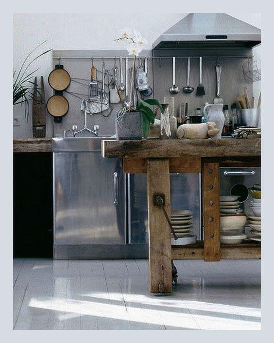 quel perfetto equilibrio tra legno e ferro - Cucine Legno E Ferro