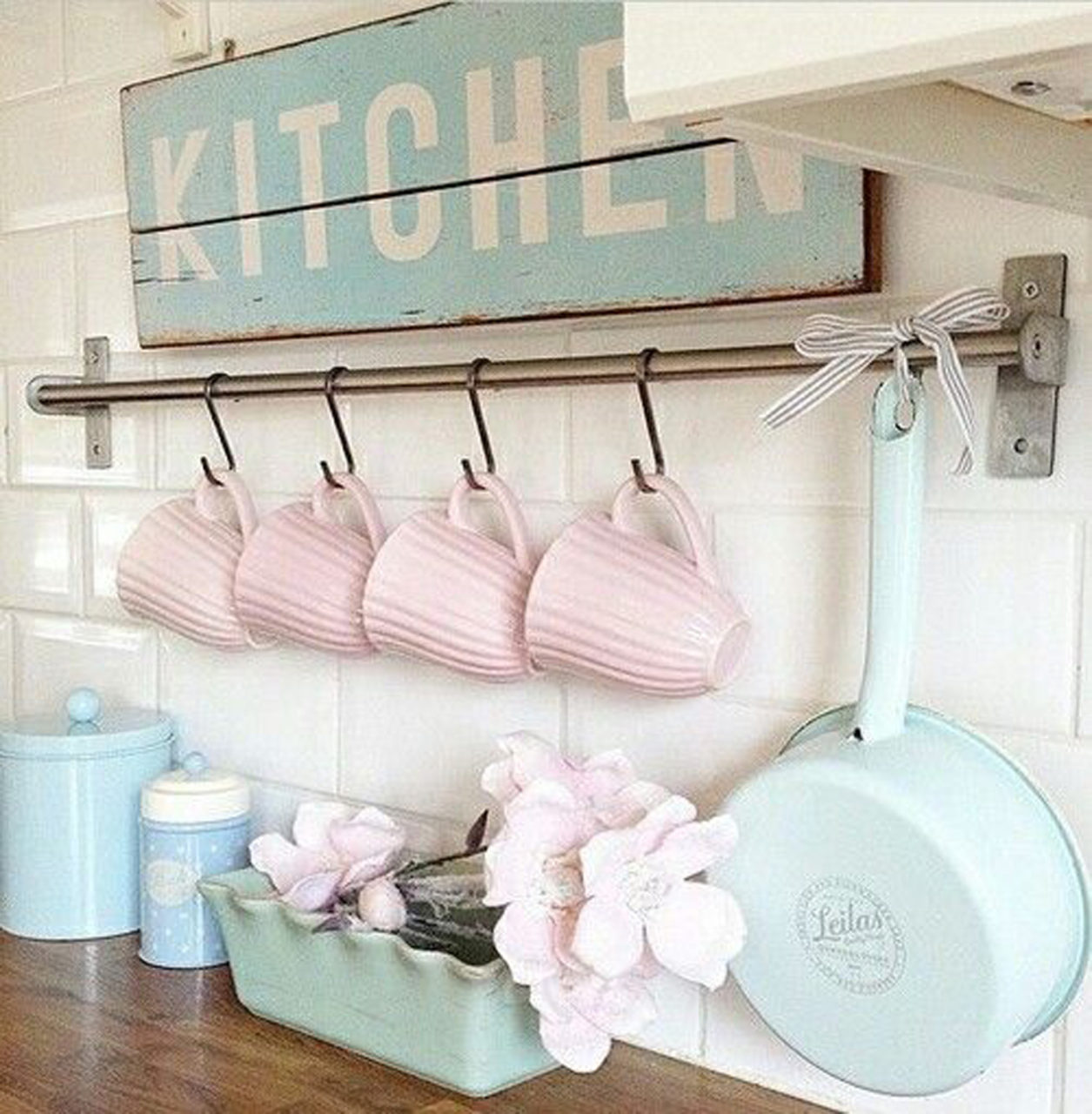 Baby Blue Kitchen Accessories: Rinnovare Casa In Stile Shabby Chic