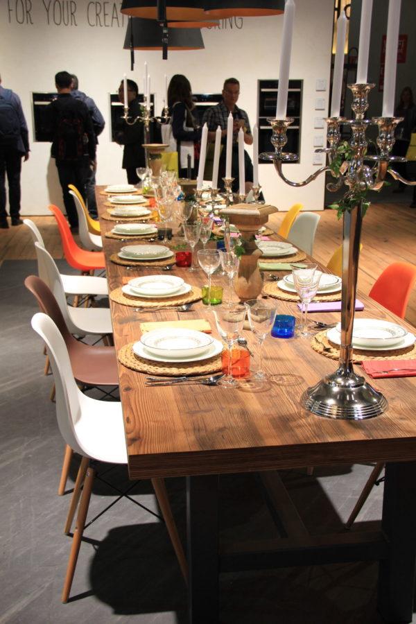 eurocucina 2016 tavolo legno ferro