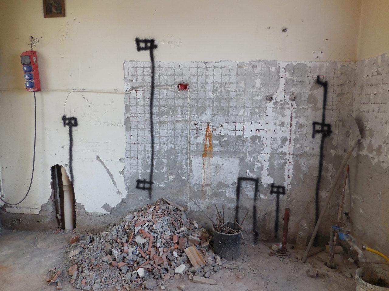 cucina: progetto delle tracce elettriche