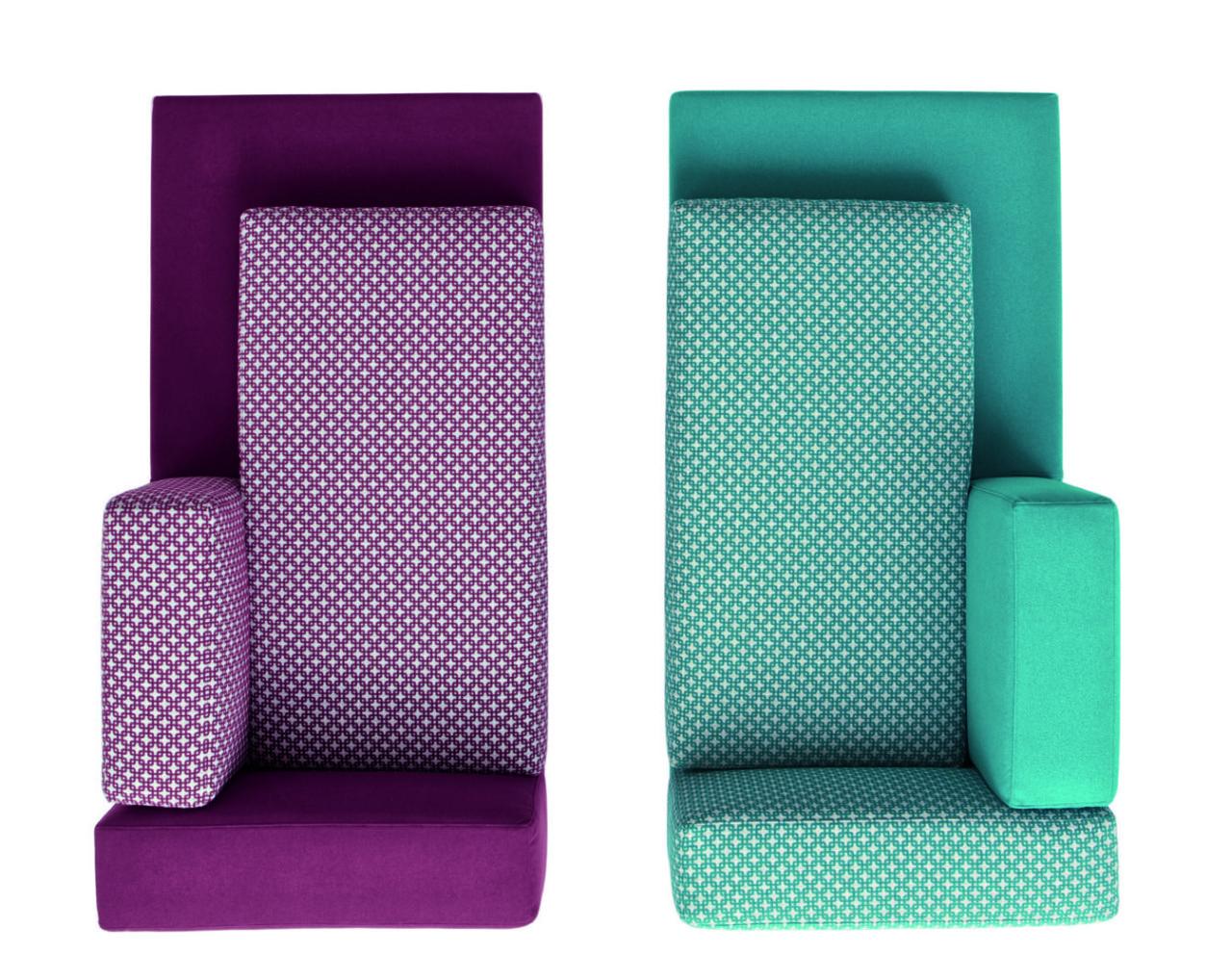 divano doimo componibile bordeaux azzurro