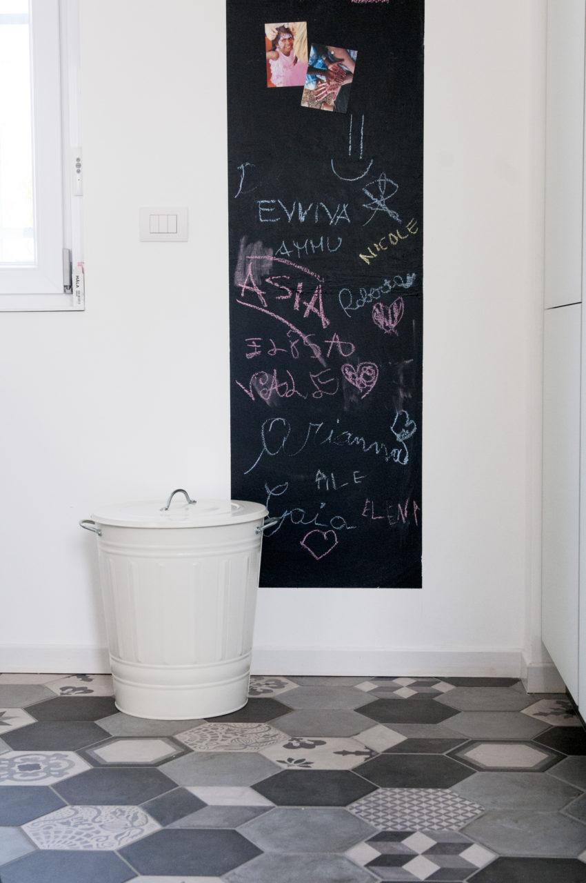 scorcio parete lavagna ambiente cucina