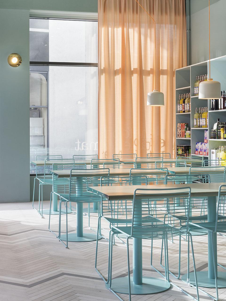 Ristorante Finefood sedie verde menta