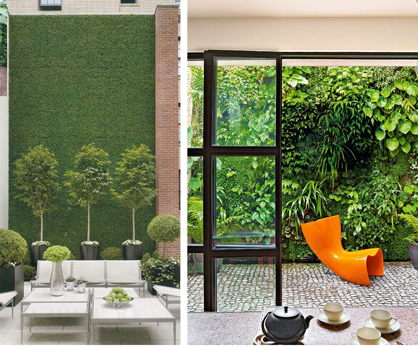 Pareti verdi interni top pareti verdi interni da letto - Pareti verdi per interni ...