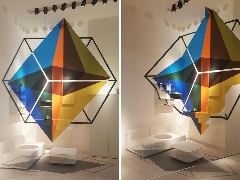 Arte come scomposizione da due differenti punti di vista nello stand Doimo