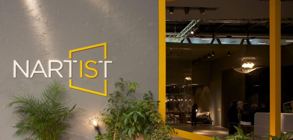 Parte esterna dello stand Doimo al Salone del Mobile 2017 dedicata a Nartist