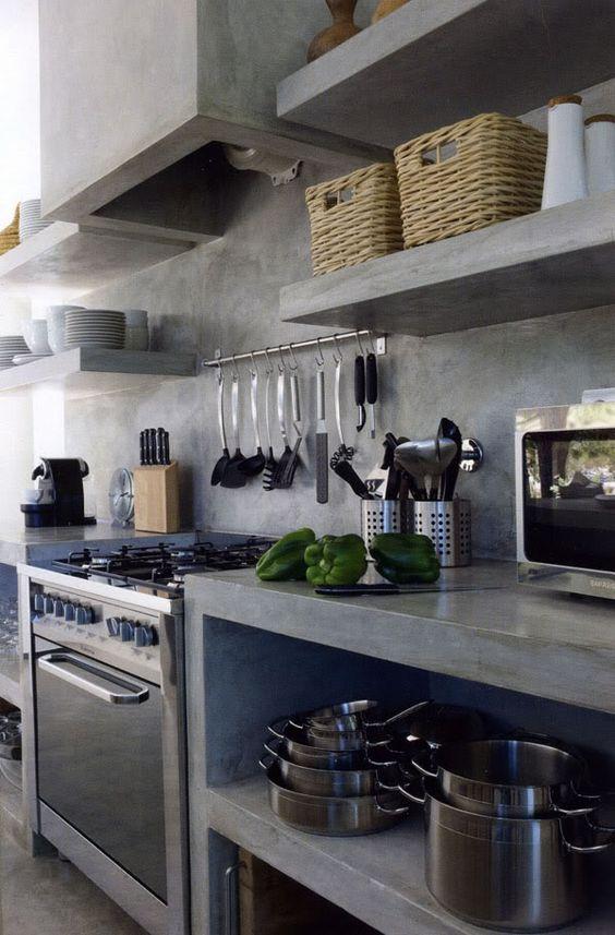 Top in cemento & co...e la cucina si veste di industrial style