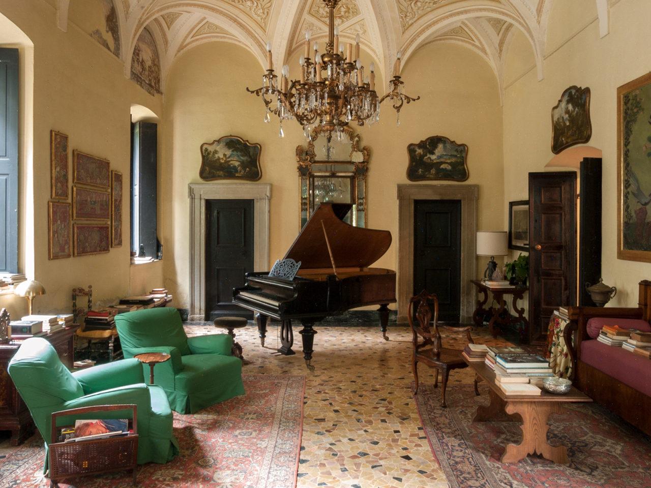 villa Albergoni soggiorno