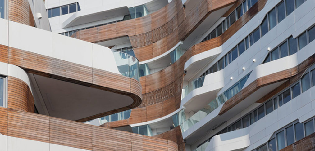vista delle residenze architetto zaha hadid milano city life